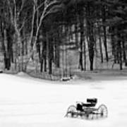 Carriage In A Field Of Snow Art Print