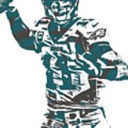Carson Wentz Philadelphia Eagles Pixel Art 5 Art Print