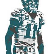 Carson Wentz Philadelphia Eagles Pixel Art 6 Art Print