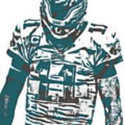 Carson Wentz Philadelphia Eagles Pixel Art 7 Art Print