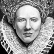 Cate Blanchett As Queen Eliz. I Art Print