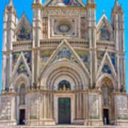 Cathedral Of Orvieto, Duomo Di Orvieto, Umbria, Italy Art Print