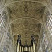 Ceiling Of Kings College Chapel Art Print