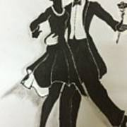Cha Cha In The Shadows Art Print