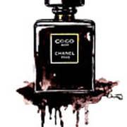 Chanel Noir Perfume Art Print