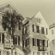 Charleston Style Houses Art Print