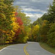 Cherohala Skyway In Autumn Color Art Print