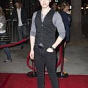 Chris Colfer At Arrivals For American Art Print