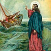 Christ Walking On The Sea Art Print