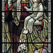 Christ With The Children. Art Print