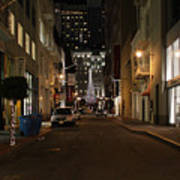 Christmas Eve 2009 On Maiden Lane In San Francisco Art Print by Wingsdomain Art and Photography
