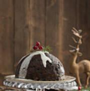 Christmas Pudding Art Print