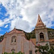Church In Taormina Art Print