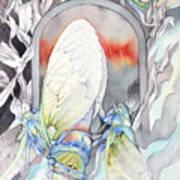 Cicada Couple Art Print