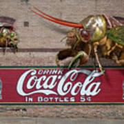 Cicada Turf War Art Print