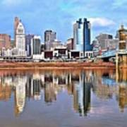 Cincinnati Reflects Art Print