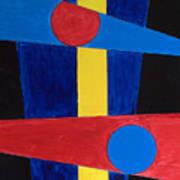 Circles Lines Color #5 Art Print