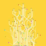 Circuit Board Graphic Art Print