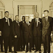Civil Rights Leaders And President Kennedy 1963 Art Print