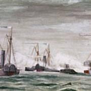 Civil War: Naval Battle Art Print