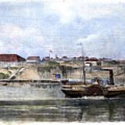 Civil War: Union Steamer Art Print