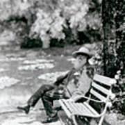 Claude Monet In His Garden Art Print