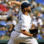 Clayton Kershaw, Los Angeles Dodgers Art Print