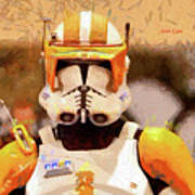Clone Trooper Commander - Free Style Style Art Print