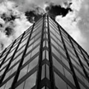 Clouds And Office Building Midtown Art Print
