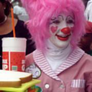 Clown With Pink Hair Art Print