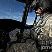 Co-pilot Flying A Ch-47 Chinook Art Print