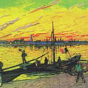 Coal Barges Art Print