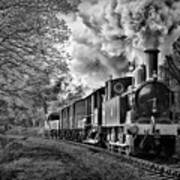 Coal Tank Engine In The Rain Art Print