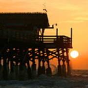 Cocoa Beach Pier/sunrise Art Print
