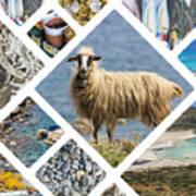 Collage Of Crete  Art Print