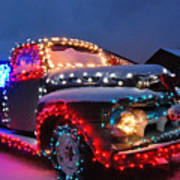 Colorado Christmas Truck Art Print