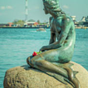 Copenhagen Little Mermaid Art Print