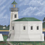 Coquille River Lighthouse At Bandon Oregon Art Print