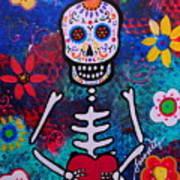 Corazon Day Of The Dead Art Print