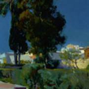 Corner Of The Garden, Alcazar, Sevilla Art Print