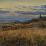 Cornfield At Sunset Art Print