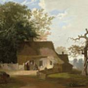 Cottage Scenery Art Print