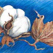 Cotton Picking Blues Art Print
