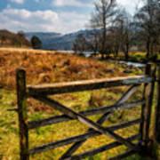 Countryside Gate Art Print