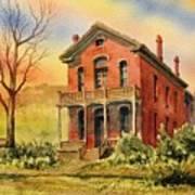 Courthouse Bannack Ghost Town Montana Art Print