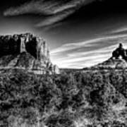 Courthouse Butte And Bell Rock Sedona Arizona Art Print