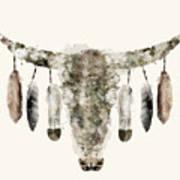 Cow Skull Art Print