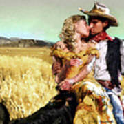Cowboy's Romance Art Print