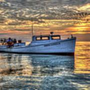 Crabbing Boat Donna Danielle - Smith Island, Maryland Art Print