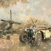 Cream Cracker Mg 4 Spitfires  Art Print by Peter Miller
